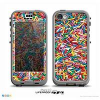 The Colorful Candy Sprinkles Skin for the iPhone 5c nüüd LifeProof Case