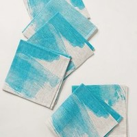 Turquoise Splash Napkins by Anthropologie Turquoise One Size House & Home