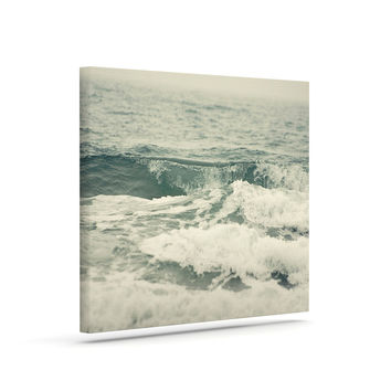 "Cristina Mitchell ""Crashing Waves"" Teal Ocean Canvas Art"