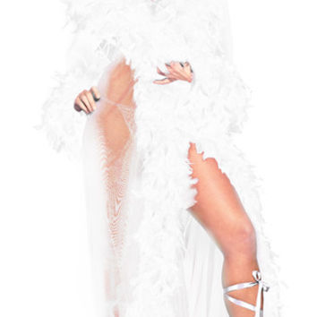 Deluxe White Feather Robe