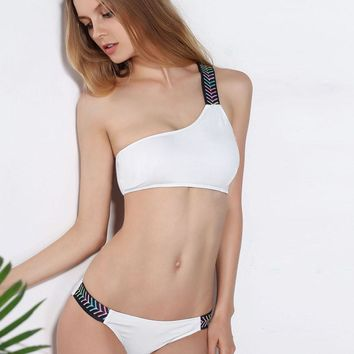 Beach Hot New Arrival Swimsuit Summer Swimwear Sexy One Shoulder Bikini [11727406287]