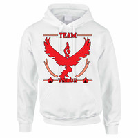 Adult Hoodie Sweatshirt Team Valor Red Team Top