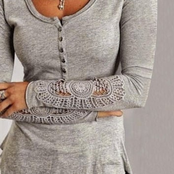 CUTE HOT LACE TOP SHIRT