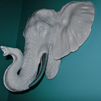 ON SALE Faux Taxidermy Elephant Head / Wall decor