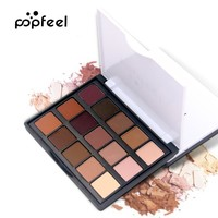 Popfeel Brand Matte Glitter Waterproof Lasting Eyeshadow Pallete Make Up Palette Eye Shadow Makeup Naked Pallete Maquiagem