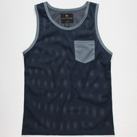 Shouthouse Side Line Boys Mesh Tank Navy  In Sizes