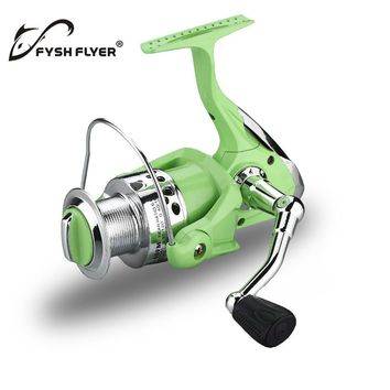 FyshFlyer Spinning Fishing Reel, Front Drag System, High Ration 5.5:1, Green Colour, 3 Ball Bearings, 1000-5000 Series Available