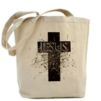 JESUS shades of gray Tote Bag