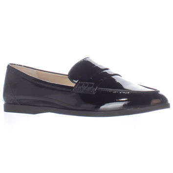 MICHAEL Michael Kors Connor Pointed Toe Loafers - Black