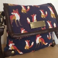 NEXT FOX PRINT SMALL MESSENGER CROSS BODY BAG NWOT !!!