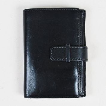 Hermes Black Box Calf Leather Bifold Wallet