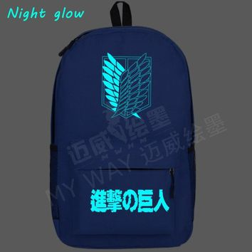 Cool Attack on Titan 2018 new  Backpack Japan Anime Printing women School Bag men Travel shoulder Bag Teenagers Cartoon Mochila AT_90_11