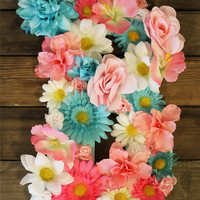 Floral Flower Letter- Custom Made to order- Initial- Wall Hanger- Decor- Photo Prop- Wedding- Baby Shower- Home Decor- Nursery- Party