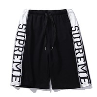 Supreme New Trending Women Men Stylish Letter Embroidery Casual Sport Shorts Black I12737-1