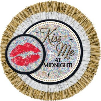 Prismatic Kiss Me at Midnight Button 6in | Party City