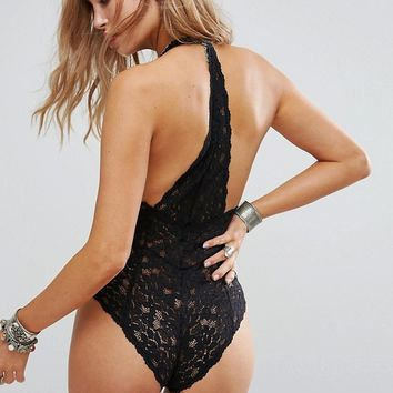Free People Avery Lace Bodysuit at asos.com