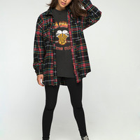 Gino Shirt in Red Green Yellow Black Plaid by Motel