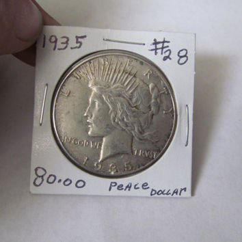 1935 Liberty Peace Dollar 1935 Silver Dollar Antique Coins USA Silver Coins Antique Us Coins Us Currency Rare Coin Collection Coin Collector