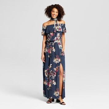 Women's Off the Shoulder Maxi Dress - Xhilaration™