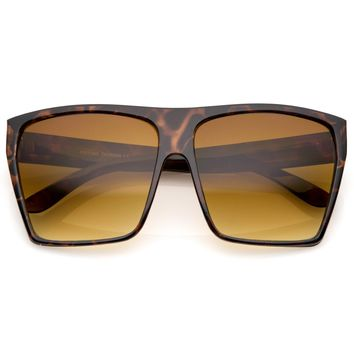 Retro Oversize Square Gradient Lens Sunglasses A554