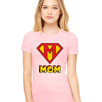 Light Pink Tshirt - This Mom Is Super Funny Shirt Tee T-Shirt Mens Ladies Womens Mother's Day
