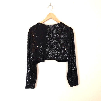 Sequin Cropped Vintage Jacket