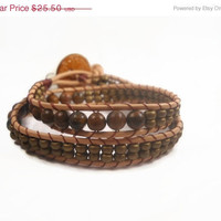Christmasinjuly CIJ Bohemian Beaded Wrap Bracelet Leather Wrap Bracelet Beaded Bracelet