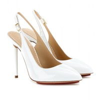 charlotte olympia - monroe patent-leather sling-back pumps