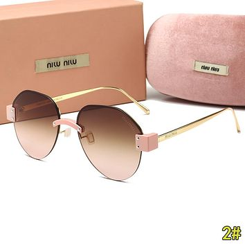 MiuMiu Fashion Woman Men Summer Sun Shades Eyeglasses Glasses Sunglasses 2#