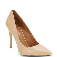 Nine West - Flax Metallic Embossed Leather Point Toe Pumps