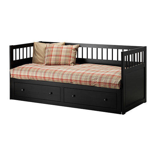 hemnes daybed frame black brown twin from ikea my girls. Black Bedroom Furniture Sets. Home Design Ideas
