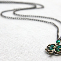 Four Leaf Clover Pendant Irish Shamrock for Good by KapKaDesign