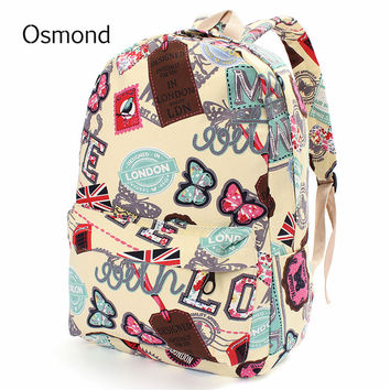 Butterfly Canvas Backpacks
