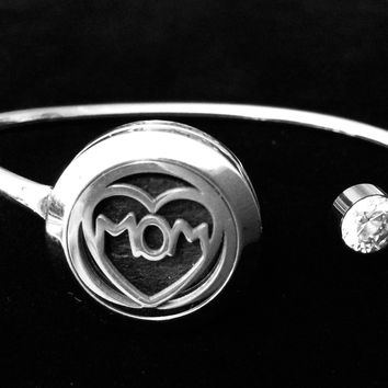 Aromatherapy Jewelry Mom Essential Oil locket Diffuser Bracelet Stainless Steel Locket Flexible