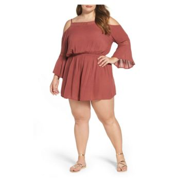 Cold Shoulder Romper (Plus Size)