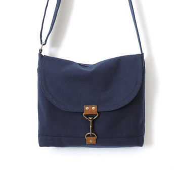 Canvas Satchel Bag Crossbody Purse Messenger Bag Blue