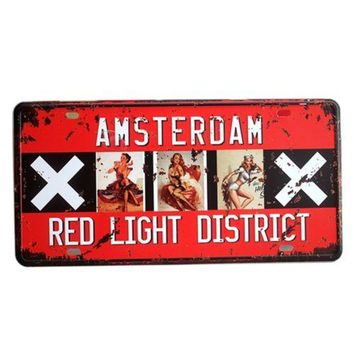 America Vintage Car Plate Wall Hanging Decoration   10