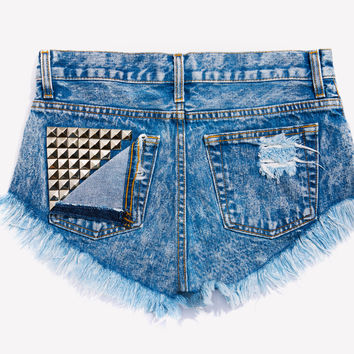 Jett Acid Studded Babe Shorts