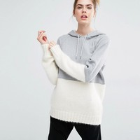 Sportmax Code Aladino Knit and Jersey Mix Hoodie