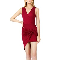 Lightweight Side Draped Bodycon Dress with Stretch (CLEARANCE)