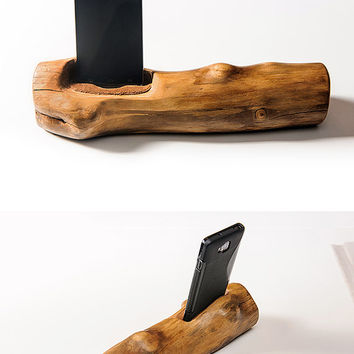 Smartphone Stand, a great gift . Tech lover gift. Wood iPhone Stand. Phone stand.
