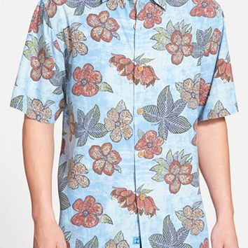 Men's Tommy Bahama 'Garden of Hope and Courage' Original Fit Print Silk Shirt,