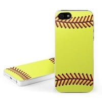 Softball Design Clip on Hard Case Cover for Apple iPhone 5 / 5S Cell Phone