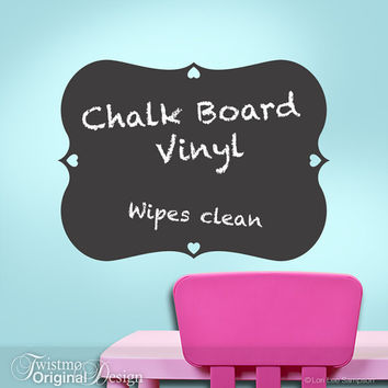 Chalk Board Vinyl Wall Decal, Boys, Girls, Teens, Toddler, Kitchen Decor, Blackboard, Chalkboard