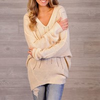 * Durango Oversized Light Knit Sweater : Cream