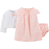 Walmart: Child of Mine by Carter's Newborn Baby Girl 3 pc Dress Set