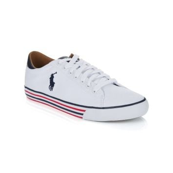 Polo Ralph Lauren White Harvey Canvas Trainers