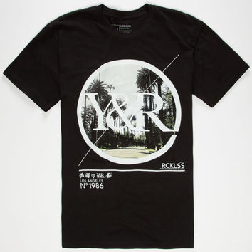 Young & Reckless Duality Photo Mens T-Shirt Black  In Sizes