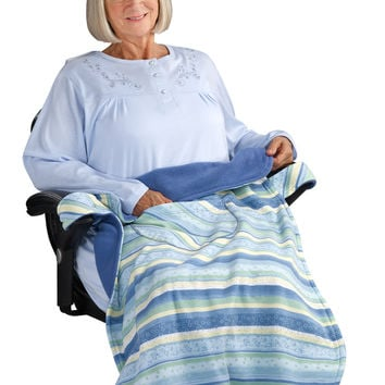 Wheelchair Blanket Cover For Women & Men - Lapwrap Wheel Chair Cover: Size ONE, Color blue