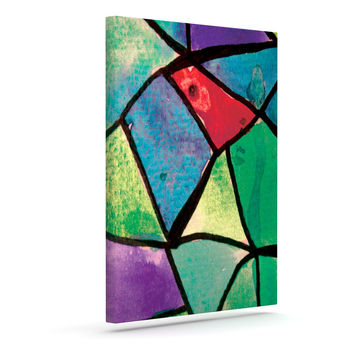 "Theresa Giolzetti ""Stain Glass 1"" Outdoor Canvas Wall Art"